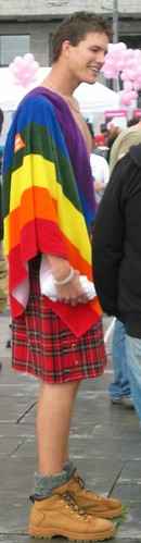 Gay man in a kilt