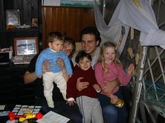 Sofi, Romi, Luca, Cristian y Josefina