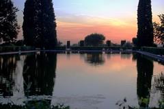 tramonto a villa Adriana (teresatitamarotta/ costretta ad assentarmi. A pres) Tags: tivoli rovine riflesso laghetto villaadrianatramonto
