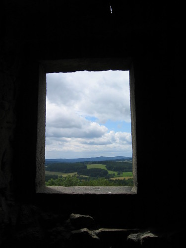 View from Hrad Rostejn tower