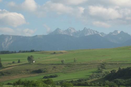Widoki w Kacwinie: Tatry