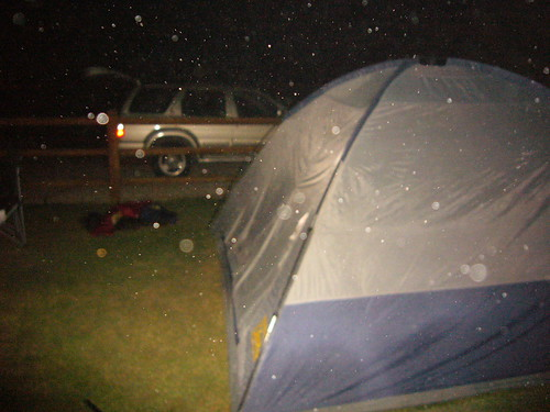 This is what it looks like when the campsite sprinklers go off at 1 AM
