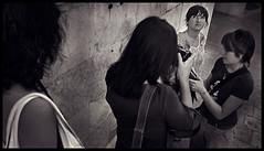 Chi cerca trova (pierofix) Tags: city girls portrait urban bw muro look stone wall stairs eyes flickr sara afternoon meeting holly occhi sguardo ponytail 169 pietra ritratto irma coda citt dado udine scalinata ragazze raduno pomeriggio loggiadellionello udfaccioni udcitt