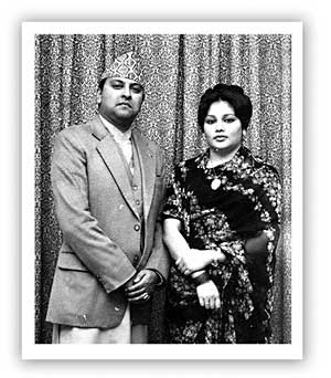 Prince Gyanendra with Princess Komal by Dwarika Das Shrestha