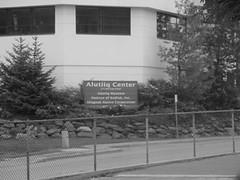 Alutiiq Center (Olympiada) Tags: bw alaska kodiak urbanfragment urbantrees missionrd alutiiqcenter