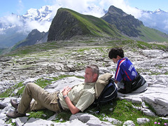 Relaxing at the Grand-Massif (Bn) Tags: travel vacation holiday france mountains alps relax hiking traveling thealps flaine montblanc 4808m grandmassif abigfave aplusphoto firsttheearth wowiekazowie diamondclassphotographer ishflickr amazingamateur ftememberportrait