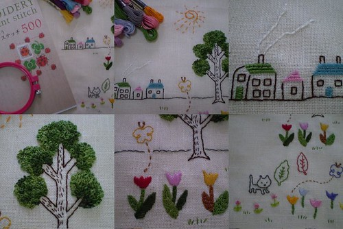 One-point stitch embroidery