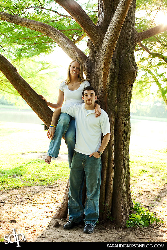 Kansas City engagement images, Shawnee Mission Park