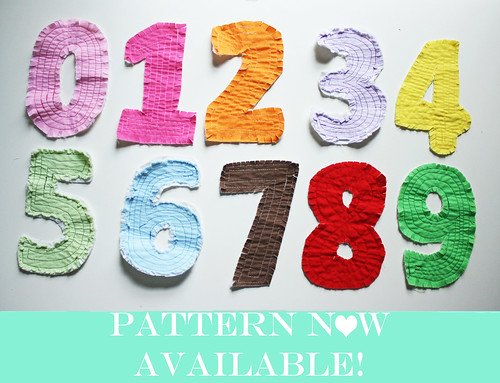 Rag Quilt Numbers Pattern Available for Download
