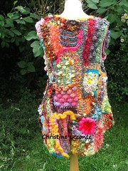 "gilet "" Vue arienne "" custom order for Nathanaelle (lescreasdenine) Tags: france europe gilet pieceunique crochetfreeform"