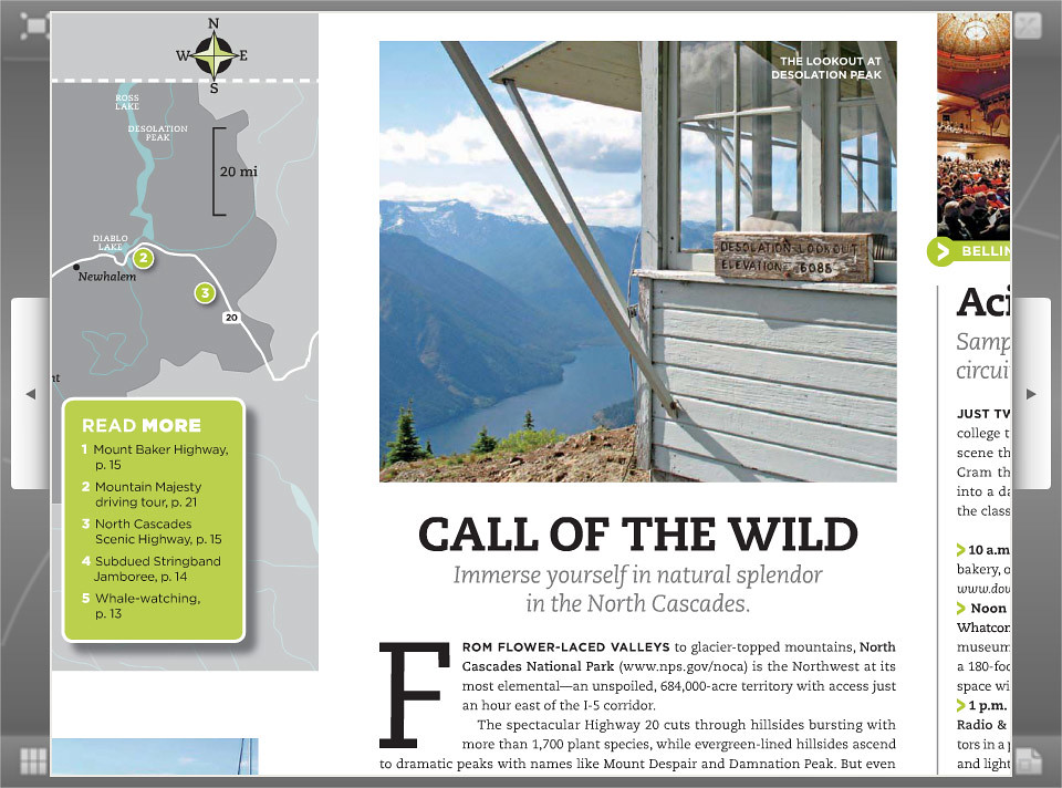 I've got two image printed in  Washington State Visitors' Guide for 2010