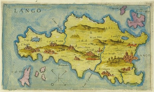 Lango - map of Kos, Greece