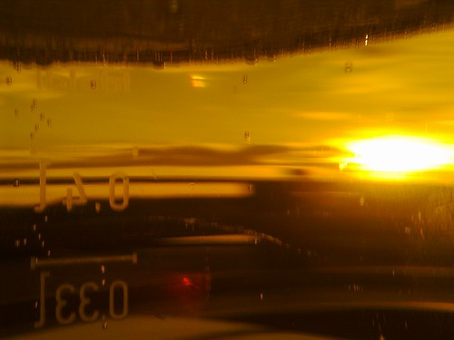 Auringonlasku ruiskulla