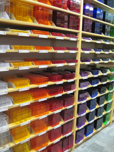 colored boxes @ The Container Store