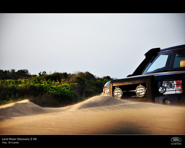 beach offroad automotive srilanka suv landrover discovery sanddunes offroading yala lr3 automotivephotography discovery3 concordians