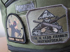 IMG_1283 (betamaxboy) Tags: patch patches morale colossus maxpedition zombiehunter versipack milspecmonkey leadfarmer