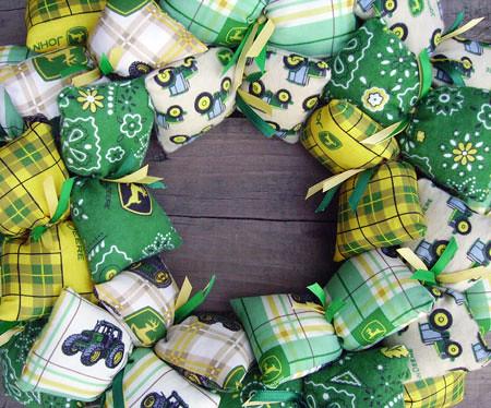 John Deere Fabric Wreath