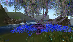Purple mushrooms (kylie hammill) Tags: flowers blue trees color art nature water landscape photography photo rocks digitalart secondlife awesomecolours