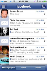 Facebook's new messages on iPhone