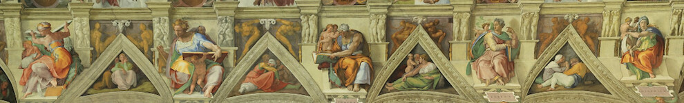 Sistine Chapel ceiling - northern wall, Prophets and Sibyls