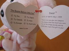 Ty Dear the Bear Beanie Baby Hang Tag (jessicagreen0202) Tags  bear baby  cute 775c91cd6e36