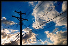 sunset (blhphotography) Tags: minnesota silhouette clouds canon stpaul bluesky explore powerlines 10d ultimateshot blhphotography
