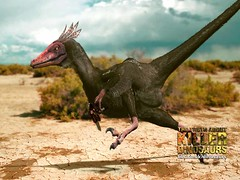 velociraptor ran like an ostrich moving its wings
