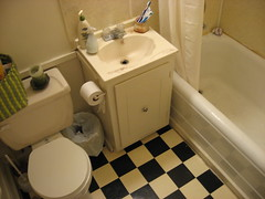 tiny bathroom. (smallestbones) Tags: home bathroom apartment 5thavenue clean saskatoon citypark dwelling june2007