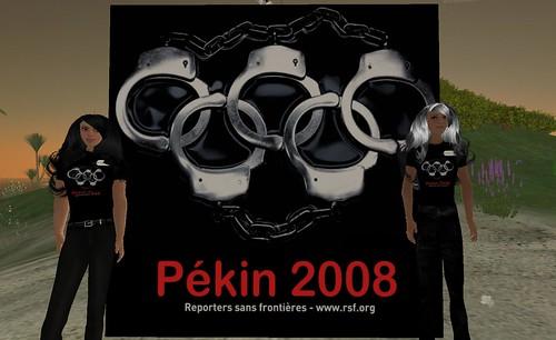 Second Life - Opération de Reporters Sans RSF le 4 juillet