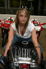 Biker Chick on MV (velton) Tags: show classic bike scottish chick motorcycle biker 2007 rowallan velton