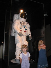 The girls and Neil Armstrong