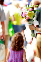 Visiting Farmers' Market (Mingfong) Tags: summer shopping farmersmarket business story madison summertime stories madisonwisconsin summerflower summerflowers  capitalsquare summercolors buyflowers photoimpressionism mingfong commercialactivity mingfongjan agriculturalproduce sketchoflight mingfongphotography