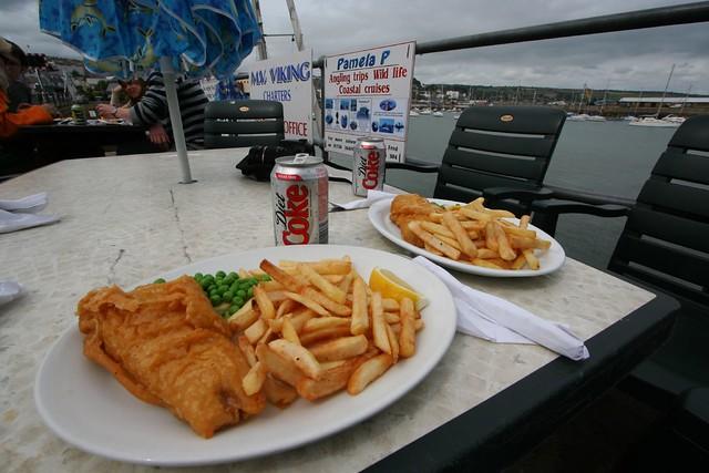 fresh fish and chips, penzance