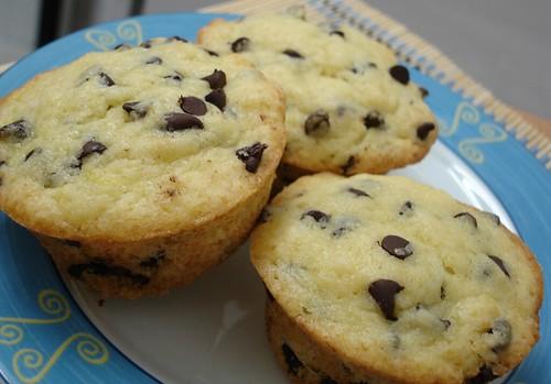 Orange choc chip muffins