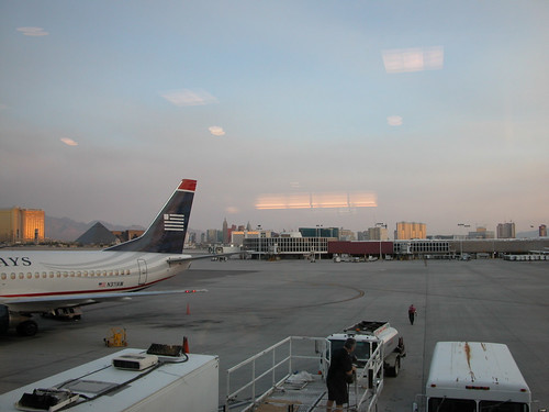The Strip at Dawn from airport