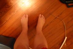 Flintstone feet (pyjammy) Tags: pregnant triplets