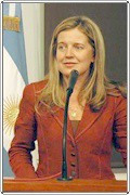 Cra. Adriana Nazario (Ministra de la Producción y Trabajo)