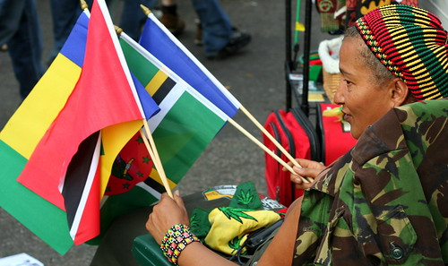 Proudly showing the african flags