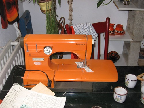 Orange Viking Sewing Machine (1)