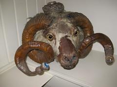 Ram's head... flask?