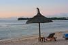Sonnenuntergang am Strand des Grand Mauritian Resort - herrlich!