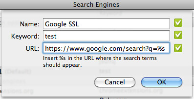 Google SSL Search Default