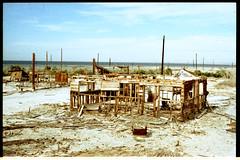 Destroyed (chris.carroll) Tags: california sun film beach water work photography kodak destruction olympus 200 shooting damaged scratched om1 saltonsea heatdamage bombaybeach