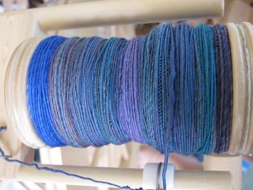 Mermaid yarn in progress
