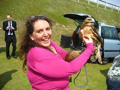 Molly with hawk