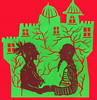 (Danny W. Mansmith) Tags: red green art love home drawing complementary relationship freehand papercut bold freeform dannymansmith