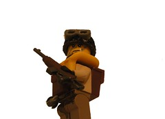 Paratrooper (Duck Lumps) Tags: world life from 2 trooper yellow reading war lego you m1 para wwii helmet goggles bored tags your stuff if ww2 these umm probably abyss carbine preserver paratrooper brickarms