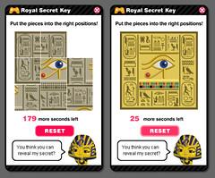 Egypt - Pharaoh's chamber - royal secret key