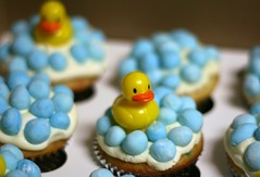 Ducky Cupcake ( Just me... ) Tags: blue yellow duck bath rubber cupcake ducky bubble fondant buttercream