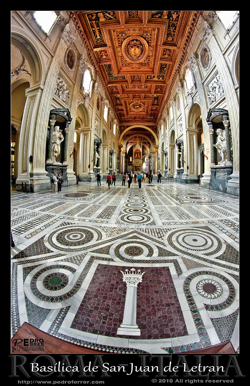 Roma - Archibasílica de San Juan de Letrán - suelo cosmatense